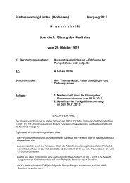 Stadtverwaltung Lindau (Bodensee) Jahrgang 2012 N ...