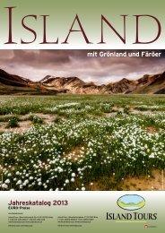 Islandkatalog 2013 jetzt downloaden! - Island Tours Österreich
