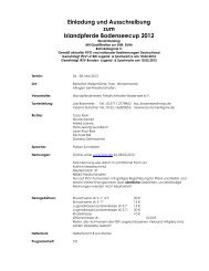Einladung und Ausschreibung zum Islandpferde Bodenseecup 2012