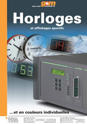 Nos horloges digitales - g+m elektronik ag