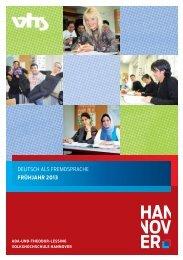 fs 2013 deutsch als fremdsprache - Volkshochschule Hannover