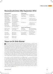 Personalnachrichten, Rezensionen - Informationsdienst der ...