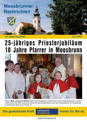 25-jähriges Priesterjubiläum 10 Jahre Pfarrer in Moosbrunn