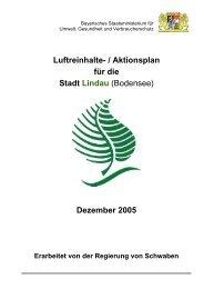 Luftreinhalte- / Aktionsplan für die Stadt Lindau (Bodensee ...