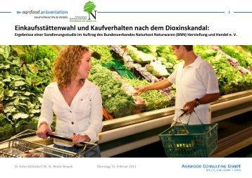Blitzumfrage Kaufverhalten & Dioxin - Agrifood Consulting GmbH