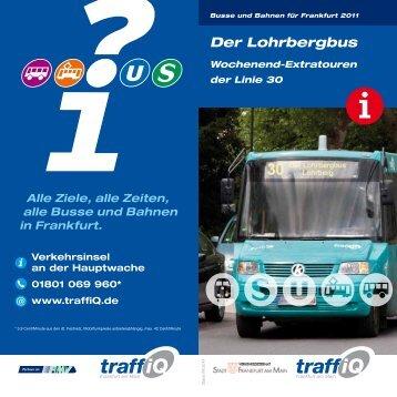 Wochenend-Extratouren der Linie 30 (PDF - traffiQ