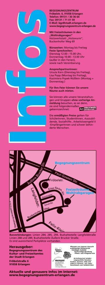 März bis August 2013 als PDF - Begegnungszentrum-Erlangen