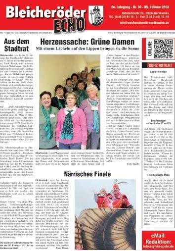 Herzenssache: Grüne Damen - Nordhäuser Wochenchronik