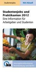 Studentenjobs und Praktikanten - IKK Brandenburg und Berlin