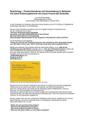 Scientology in Welzheim - Aufklärungsgruppe Krokodil