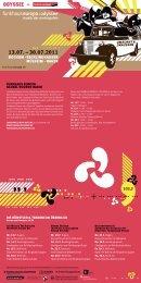 """Flyer zu """"Odyssee 2011 – Musik der Metropolen"""" - WDR.de"""