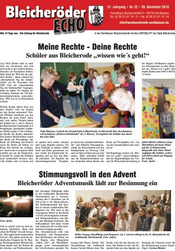 14 Tage neu - Die Zeitung für Bleicherode - Nordhäuser ...