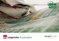 Lengericher Wochenblatt - Aschendorff Medien GmbH & Co. KG