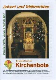 Der aktuelle Kirchenbote - Autobahnkirche Brehna