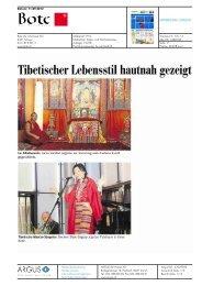 Tibetischer Lebensstil hautnah gezeigt - Park Weggis