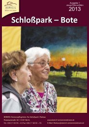 Schloßpark – Bote - DOMICIL Seniorenresidenzen