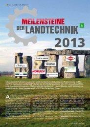 Meilensteine der Landtechnik 2013