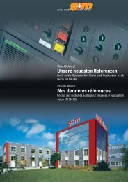 Unsere neuesten Referenzen Nos dernières ... - g+m elektronik ag