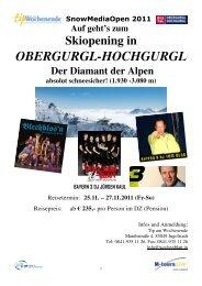 11 25 Tip am Wochenende Reiseprogramm Obergurgl - M-tours Live