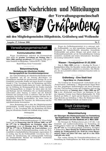 Verwaltungsgemeinschaft Stadt Gräfenberg - Hiltpoltstein