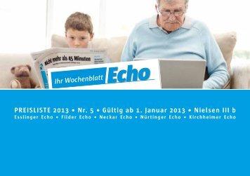 Ihr Wochenblatt Echo Ihr Wochenblatt Echo
