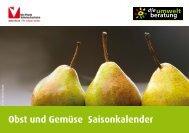 Obst und Gemüse Saisonkalender - Umweltberatung