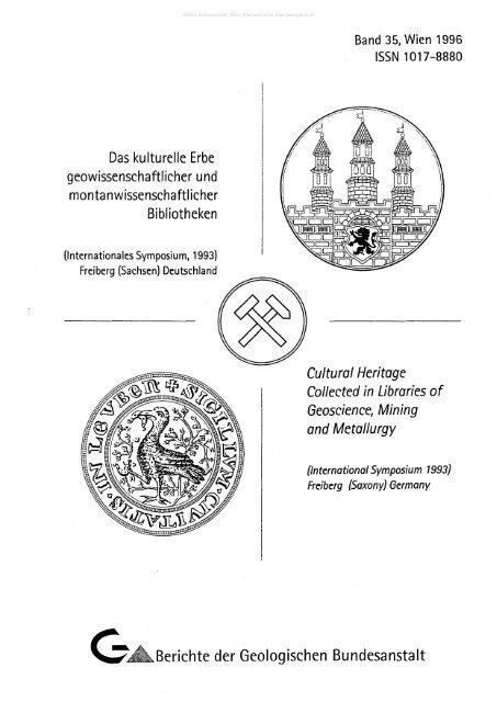 GEB Bibliographie d geologischen Wissenschaften f d Bezirke Halle u Magdeburg..