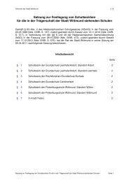 2.16. Satzung zur Festlegung von Schulbezirken ... - Stadt Wittmund