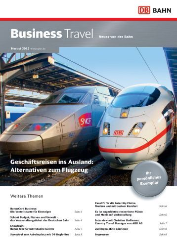Deutsche Business Travel zum Download (PDF, 974KB) - Bahn.de