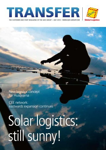 New logistics concept for Husqvarna CEE network ... - Geis Group