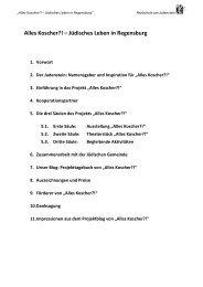 Alles Koscher?! – Jüdisches Leben in Regensburg