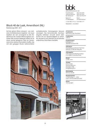 Block 40 de Laak, Amersfoort (NL) - BBK Architekten