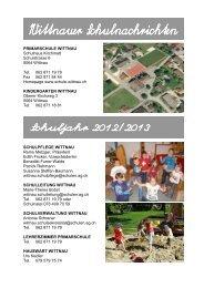Wittnauer Schulnachrichten 2012 / 2013 - Schule Wittnau