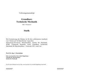Tm statik for Statik mechanik