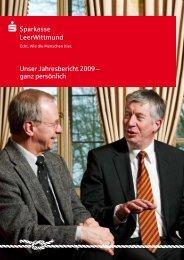 Unser Jahresbericht 2009 - Sparkasse LeerWittmund