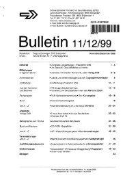 Bulletin - Serveur suisse de documents pour l'éducation et la formation