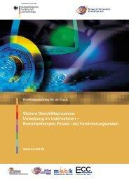 Umsetzung im Unternehmen - Branchenbeispiel Finanz - MECK