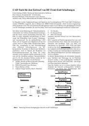CAD-Tools für den Entwurf von HF-Front-End-Schaltungen