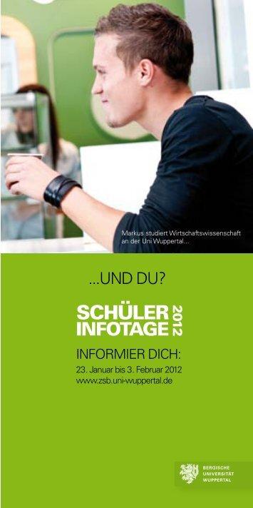Weitere informationen - ZSB - Bergische Universität Wuppertal
