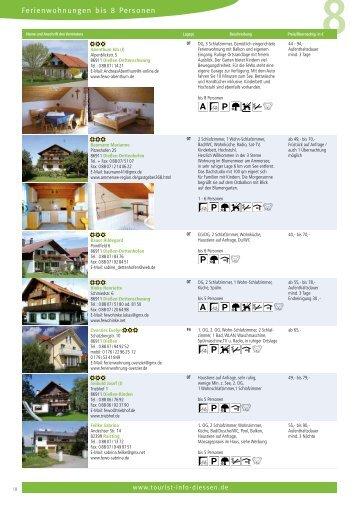 Ferienwohnungen bis 8 Personen - Tourist-Info-Diessen am ...