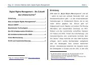Digital Rights Management – Die Zukunft des Urheberrechts?1 ...