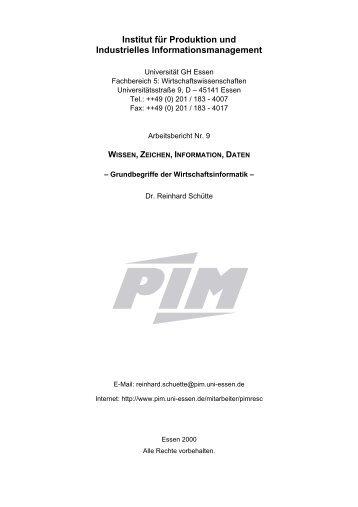 Wissen, Zeichen, Information, Daten (293 KB) - Institut für Produktion ...