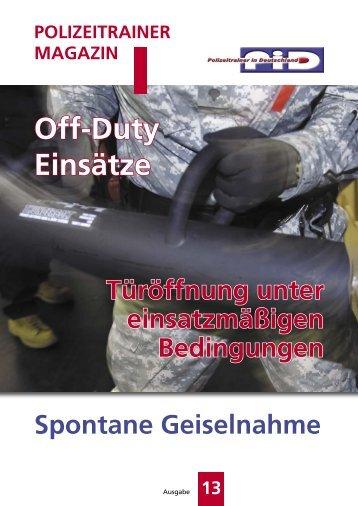 Off-Duty Einsätze - Team One Network