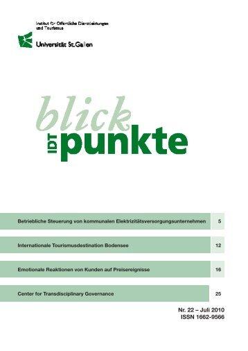 Juli 2010 - am Institut für Systemisches Management und Public ...