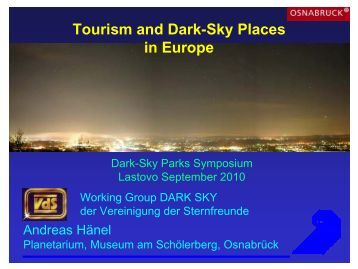 dr. Andreas Hänel, Museum am Schölerberg: Tourism and