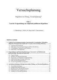 Teil A: Grundlagen der Versuchsplanung - Jochen Fahrenberg