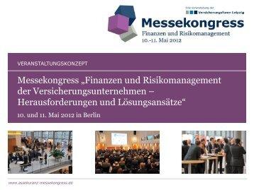 Veranstaltungskonzept 2012 - Versicherungsforen Leipzig