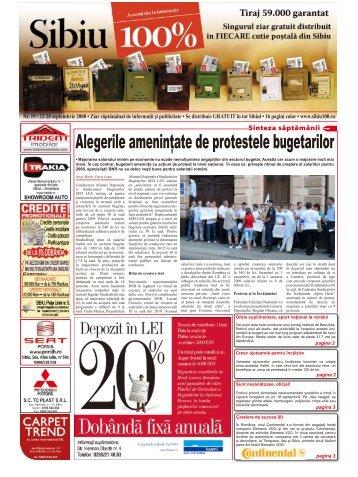 Alegerile ameninţate de protestele bugetarilor - Sibiu 100