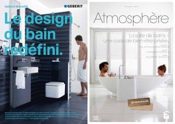 Le design du bain UHGÄƬQL Geberit Monolith - Glasson Matériaux