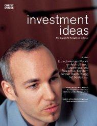 Ein schwieriges Markt - Credit Suisse eMagazine